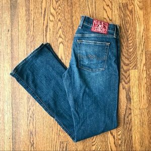 Lucky Brand Low Rise Flare Dark Wash Jeans